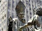 Polsk� ob�i socha m� ve sv�t� konkurenci. V Peru v p�tek odhalili obdobn�