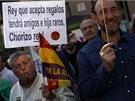 Více než osm tisíc lidí v neděli v Madridu demonstrovalo proti monarchii a