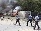 Terčem útoků byl soudní komplex, silná exploze byla hlášena také z oblasti
