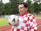 Bývalý premiér a předseda ČSSD Jiří Paroubek před fotbalovým zápasem na