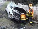 Tragick� nehoda Fiatu Multipla ve Stonav� na Karvinsku, p�i kter� zahynuli dva