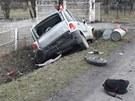 Ve Fiatu Multipla zahynuli dva mu�i, t�et� utrp�l st�edn� t�k� zran�n�. (11.