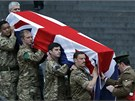 Britští vojáci nacvičovali slavnostní pohřeb bývalé premiérky.