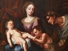 Olejomalba Svatá rodina se sv. Janem Křtitelem a sv. Annou na státním zámku v