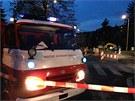 Masivní únik plynu v ulici Jeremenkova v Praze (11. dubna 2013).
