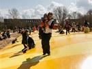 Z�bavn� park v Milovic�ch, kter� majitel vybudoval na b�val�ch vojensk�ch