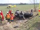Tragická havárie tří aut u Paskova na Frýdecko-Místecku