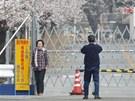 Návštěvníci městečka Yonomori ležícího jen zhruba 7 kilometrů od fukušimské