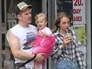 Ethan Hawke s dcerou Mayou a dcerou Clementine, kterou má se současnou