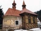 kostel Nejsvětější trojice V Klášterské Lhotě před rekonstrukcí