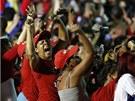 Radost příznivců Chávezova nástupce  (15. dubna 2013)