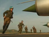 Severokorejské vzdušné síly na záběru z propagandistického videa