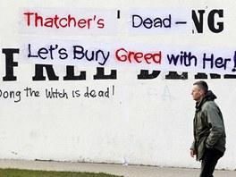 V severoirsk�m Londonderry za Thatcherovou mnoho lid� netruchl� (9. dubna 2013)