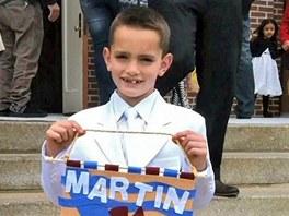 Osmilet� Martin Richard zem�el p�i v�buchu n�lo�e, kdy� �ekal na sv�ho otce