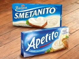 Tavené sýry Smetanito a Apetito