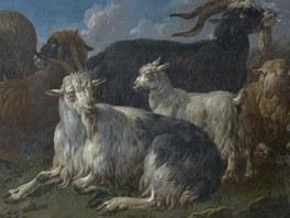Obraz Pastevecká scéna z 2. poloviny 17. století před opravou.