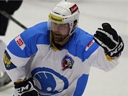 Jaroslav Špaček v dresu hokejové Plzně