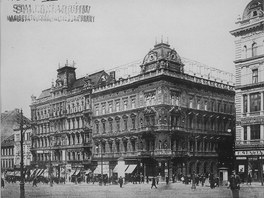 Původní vzhled rohové budovy na adrese Václavské náměstí 47