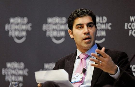Parag Khanna, autor textu, na Sv�tov�m ekonomick�m f�ru v roce 2011