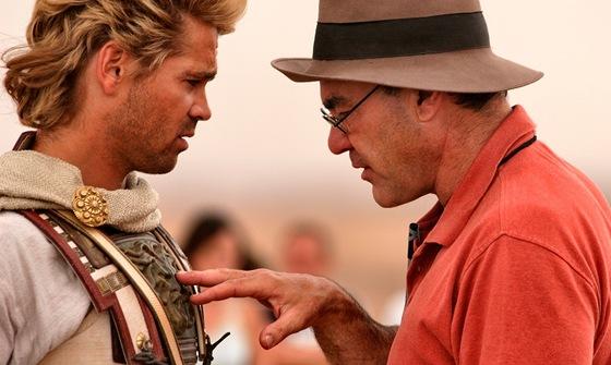 Oliver Stone a Colin Farrell p�i nat��en� filmu Alexander Velik�