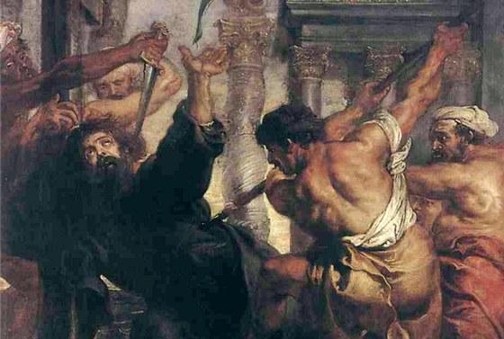 Peter Paul Rubens: Umu�en� sv. Tom�e (1638)