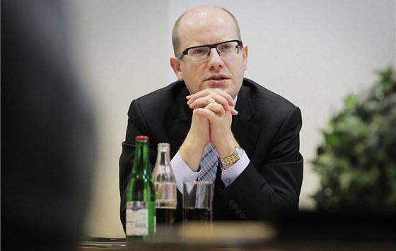 Návštěva šéfa ČSSD Bohuslava Sobotky v Plzeňském kraji (29. dubna 2013)