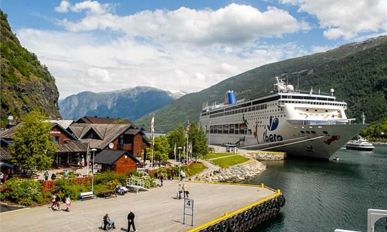 Flam je oblíbenou zastávkou velkých výletních lodí