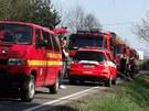 Požár lesa v Havířově-Šumbarku