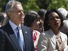 Slavnostního otevření Prezidentské knihovny exprezidenta George W. Bushe se
