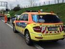 Smrtelná nehoda motorkáře na Pražském okruhu (25.4.2013)