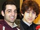 Bratři Džochar (vpravo) a Tamerlan Carnajevovi na archivních snímcích