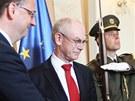 Petr Nečas přijal na Úřadu vlády stálého předsedu Evropské rady Hermana Van