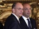 Italsk� premi�r Enrico Letta a ministr vnitra Angelino Alfano (28. dubna 2013)