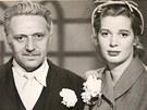 Haas a Beverly Michaels ve snímku Dívka na mostě.