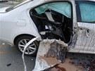 Řidič automobilu zřejmě nedal motorkáři na křižovatce brněnských ulic Tábor a