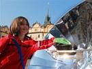 Na pardubickém Pernštýnském náměstí byl v rámci Dne Země k vidění i solární