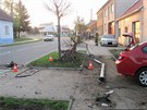 Felicie vyvrátila několik stromů a sloup veřejného osvětlení, který poškodil
