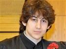 Džochar Carnajev na snímku ze slavnostního ukončení střední školy Cambridge
