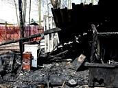 Požár způsobil škodu za 113 tisíc korun. Kynologové se nyní snaží areál