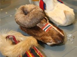 V části o historii obuvnictví jsou k vidění i velmi raritní boty.