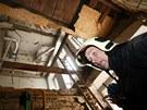 Probořený strop v domě v pražské Divadelní ulici, ve kterém vybuchl plyn. (30....