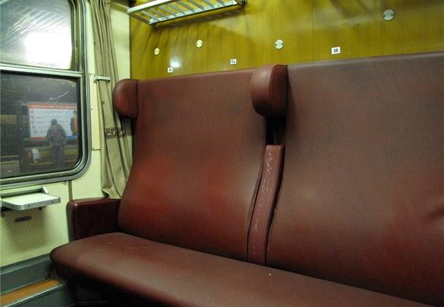 Staré ko�enkové seda�ky jsou stále b�ným standardem v rychlíkových spojích...