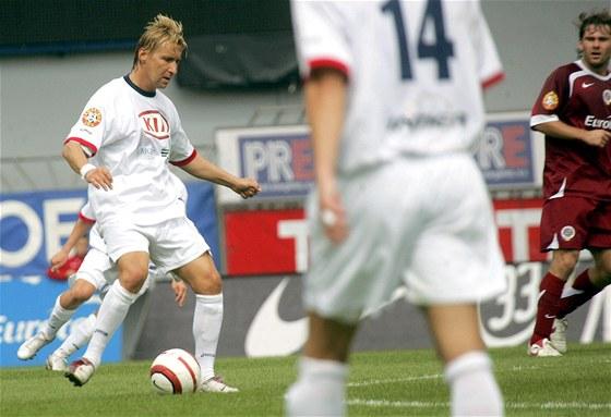 Fotbalista FK Siad Most Horst Siegl při utkání proti pražské Spartě. (14. srpna