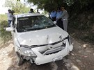 Rozst��len� auto p�kist�nsk�ho �alobce �audhr�ho Zulfikara (3. kv�tna 2013)