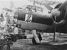 Maskovaný německý bombardér Dornier Do 17 na nedatovaném snímku