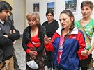 Romové z Přednádraží přišli jednat s vedením centrálního obvodu. (6. 5. 2013)