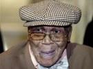 Devadesátiletý Willie Wilkins na slavnostní ceremonii k 68. výročí konce druhé...
