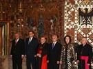 T�mi jsou nyn� prezident Milo� Zeman, premi�r Petr Ne�as, pra�sk� arcibiskup...