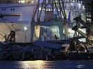 Za nehodu v Janově může zřejmě kapitán velké nákladní lodi, která narazila při