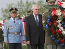 Prezident Miloš Zeman si na pražském Vítkově připomněl konec 2. světové války.